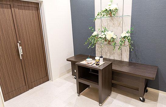 仙台宮町ホールの安置室