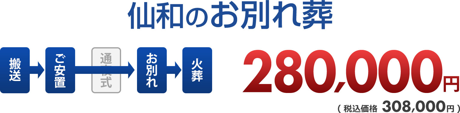 仙和の1日葬 価格:280,000円